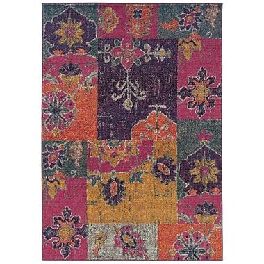 Bungalow Rose Terrell Floral Ikat Multi/Pink Area Rug; 7'10'' x 11'