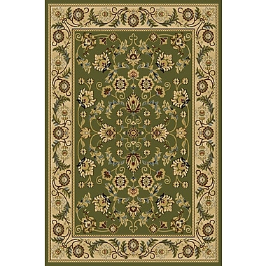 Wildon Home Cicily Green Area Rug; Rectangle 5' x 7'6''