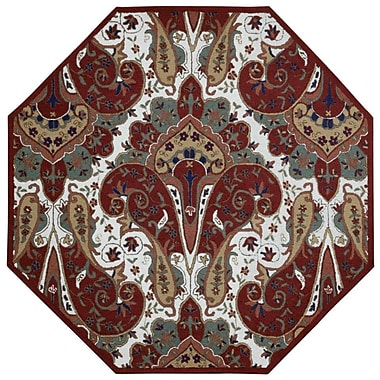 St. Croix Structure Hand-Tufted Red Area Rug; Rectangle 4' x 6'