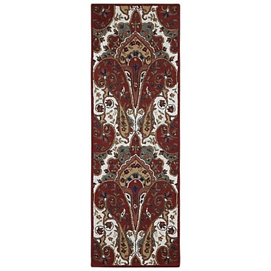St. Croix Structure Hand-Tufted Red Area Rug; Runner 2'6'' x 8'