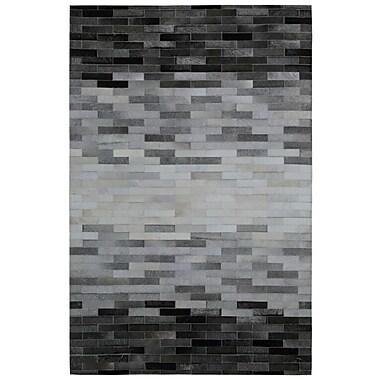 St. Croix Matador Hair-On Hide Hand-Woven Gray Area Rug; 4' x 6'