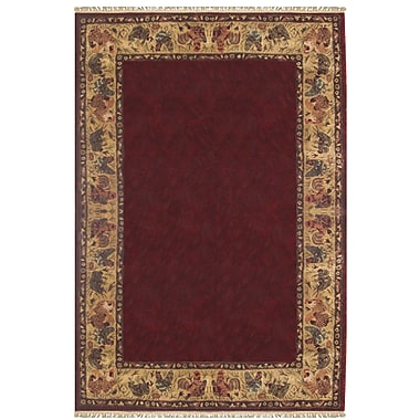 American Home Rug Co. Chicken and Rooster Hand-Tufted Burgundy Area Rug; Runner 2'6'' x 8'