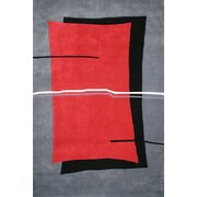 American Home Rug Co. Handmade Red/Grey Area Rug; 5' x 8'