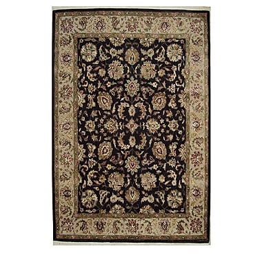 American Home Rug Co. Agra Hand-Tufted Black Area Rug; Runner 2'6'' x 8'