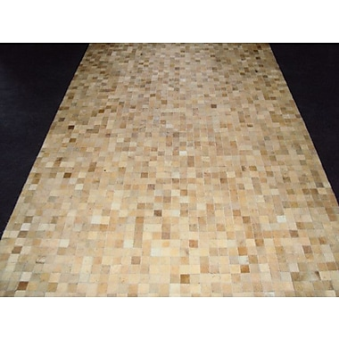 Modern Rugs Patchwork Static II Neutral Area Rug; Rectangle 5' x 7'