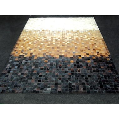Modern Rugs Patchwork Gradient Multi-colored Area Rug; Rectangle 4'6'' x 6'6''