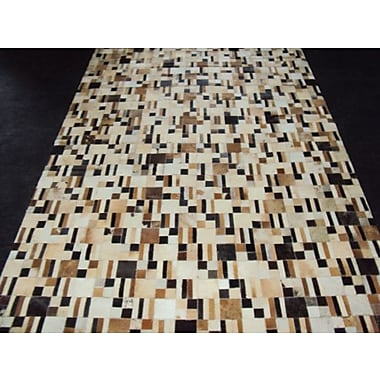 Modern Rugs Patchwork Disruption Neutral Area Rug; Square 4'