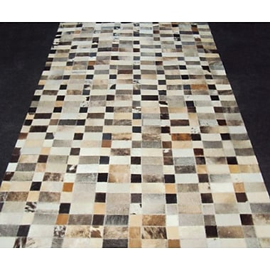 Modern Rugs Patchwork Disruption III Neutral Area Rug; Rectangle 6' x 9'