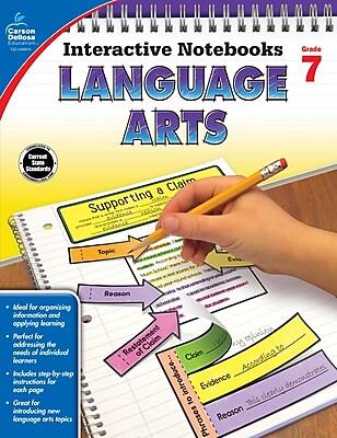 Carson-Dellosa Interactive Notebooks Language Arts Grade 7 Resource Book (104914)