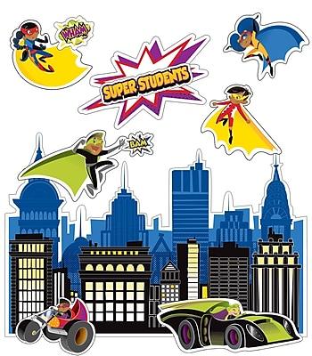 Carson-Dellosa Super Power Super Kids Bulletin Board Set (110310)