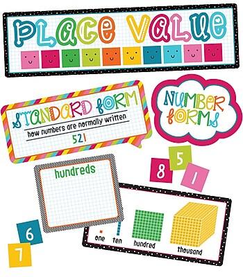 Carson-Dellosa School Pop Place Value Grades K-3 Mini Bulletin Board Set (110331)