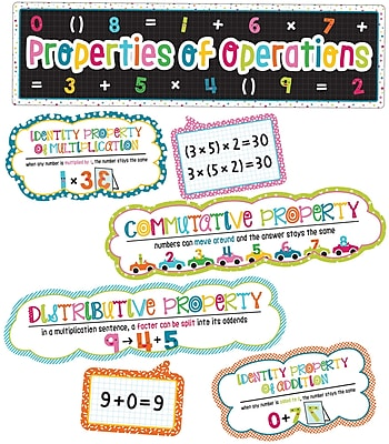 Carson-Dellosa School Pop Properties of Operations Grades 1-4 Mini Bulletin Board Set (110332)