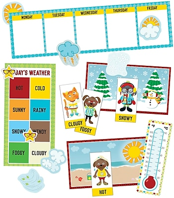 Carson-Dellosa Hipster Weather Grades K-2 Mini Bulletin Board Set (110339)