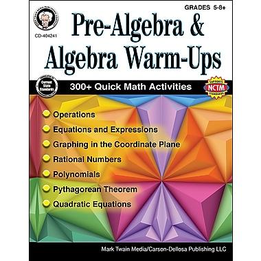 Carson-Dellosa Mark Twain Pre-Algebra and Algebra Warm-Ups Grade 5-8+ Resource Book (404241)