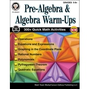 Mark Twain Pre-Algebra and Algebra Warm-Ups Grades 5-8+ Resource Book (404241)