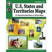 Mark Twain U.S. States and Territories Maps Grades 5-8+ Resource Book (404248)