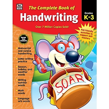 Carson-Dellosa Thinking Kids The Complete Book of Handwriting Grade K-3 Workbook (704930)