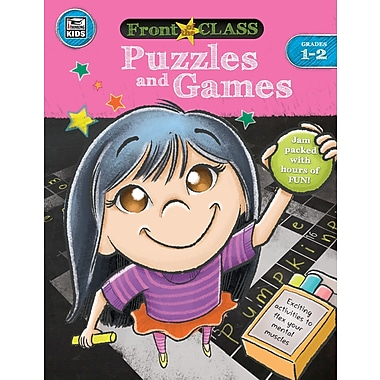Carson-Dellosa Thinking Kids Front of the Class Puzzles and Games Grade 1-2 Activity Book (704995)