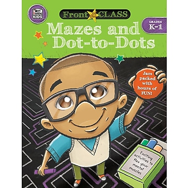 Thinking Kids Front of the Class Mazes and Dot-to-Dots Grades K-1 Activity Book (704996)