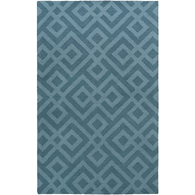 Artistic Weavers Impression Poppy Hand-Tufted Blue Area Rug; 8' x 10'