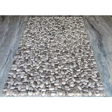 Modern Rugs Pebbles Gray Area Rug; Square 7'