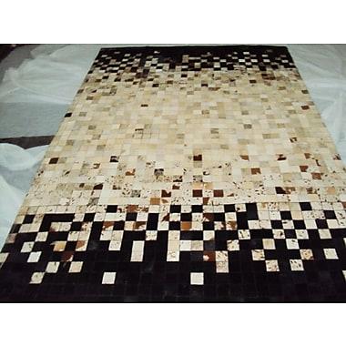 Modern Rugs Patchwork Static Spectrum Beige/BlackArea Rug; Rectangle 4' x 6'