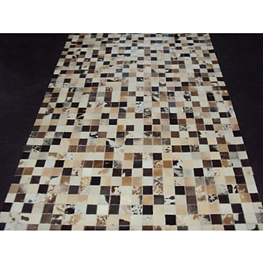 Modern Rugs Patchwork Static III Multi-colored Area Rug; Square 6'
