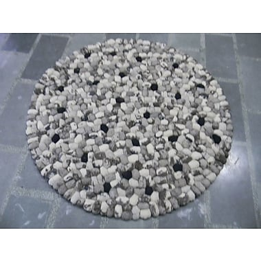 Modern Rugs Pebbles White Area Rug; Square 6'