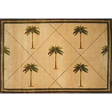 LA Rugs Fun Time Palm Fonds Palm Tree Novelty Rug; Rectangle 3'3'' x 4'10''