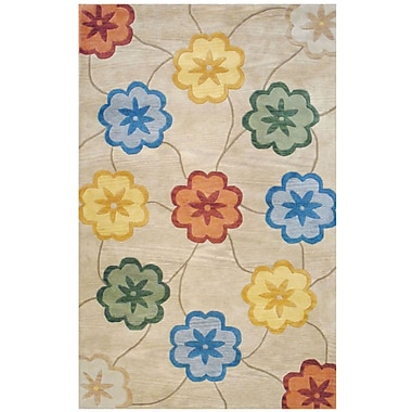 Herat Oriental Hand-Tufted Beige/Gold Area Rug; Rectangle 8' x 10'