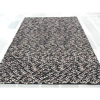 Modern Rugs Cobblestone Beige/Black Area Rug; Rectangle 4' x 6'