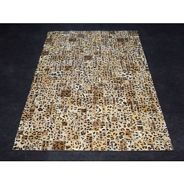 Modern Rugs Patchwork Print Cheetah Area Rug; Rectangle 3' x 5'