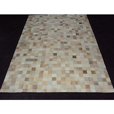 Modern Rugs Patchwork Ivory Area Rug; Rectangle 5' x 8'