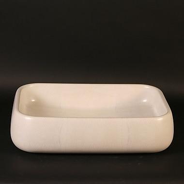 MaestroBath Moda Giungla Iguana Rectangular Vessel Bathroom Sink; Iguana White