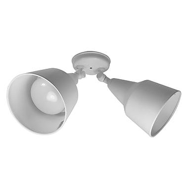 NICOR Lighting 2 Head Outdoor Floodlight