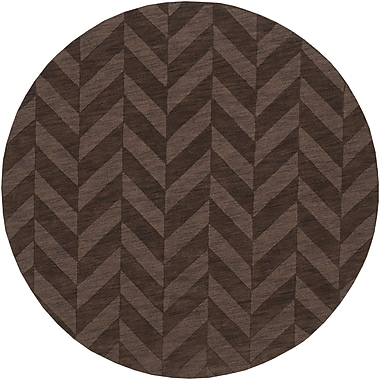 Artistic Weavers Central Park Brown Chevron Carrie Area Rug; Round 9'9''