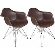 Mod Made Paris Tower Arm Chair (Set of 2); Chocolate