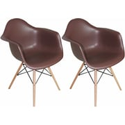 Mod Made Paris Tower Arm Chair (Set of 2); Chocolate