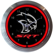 Neonetics 15'' Dodge Hellcat Neon Clock