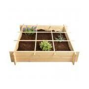 EsschertDesign Secret Du Potager 3.5 ft x 3.5 ft Pine Raised Garden