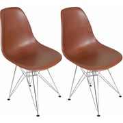 Mod Made Paris Tower Side Chair (Set of 2); Chocolate