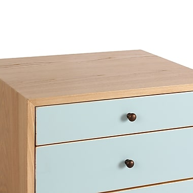 Porthos Home Malcolm End Table; Aqua
