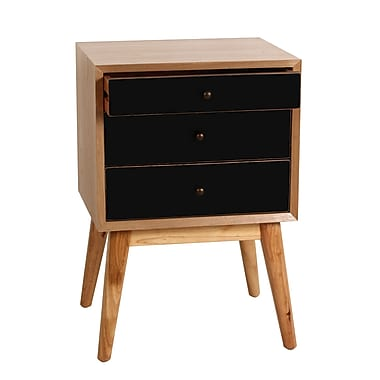 Porthos Home Malcolm End Table; Black