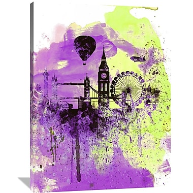 Naxart 'London Watercolor Skyline 1' Graphic Art on Wrapped Canvas; 48'' H x 36'' W x 1.5'' D