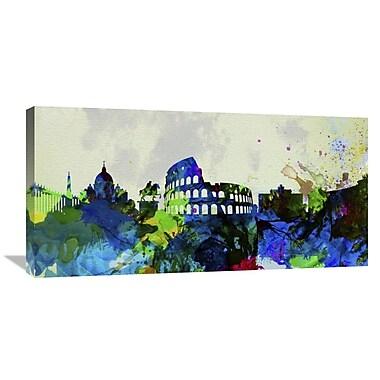 Naxart 'Rome City Skyline' Graphic Art on Wrapped Canvas; 18'' H x 36'' W x 1.5'' D
