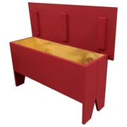 SawdustCity Wooden Storage Bench; Red