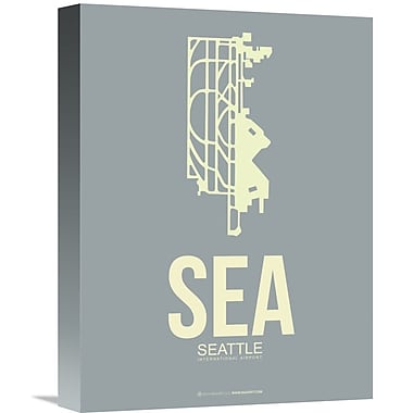 Naxart 'SEA Seattle Poster 3' Graphic Art on Wrapped Canvas; 16'' H x 12'' W x 1.5'' D