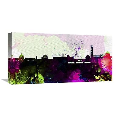 Naxart 'Florence City Skyline' Graphic Art on Wrapped Canvas; 12'' H x 24'' W x 1.5'' D