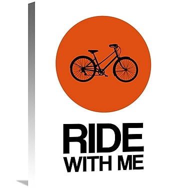 Naxart 'Ride w/ Me Circle Poster 1' Graphic Art on Wrapped Canvas; 24'' H x 18'' W x 1.5'' D