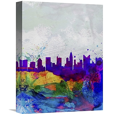 Naxart 'Columbus Watercolor Skyline' Graphic Art on Wrapped Canvas; 48'' H x 36'' W x 1.5'' D
